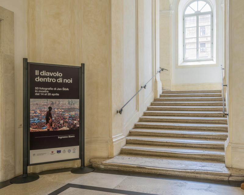Allestimento della Mostra su Jan Sibik a Roma