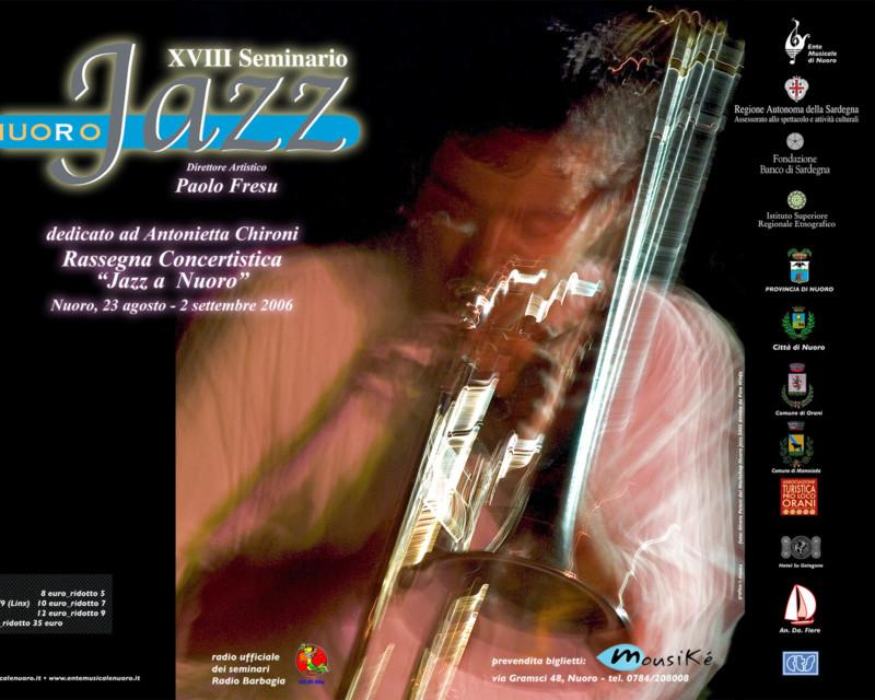 Studio grafico del materiale promozionale per la rassegna Jazz a Nuoro diretta da Paolo Fresu