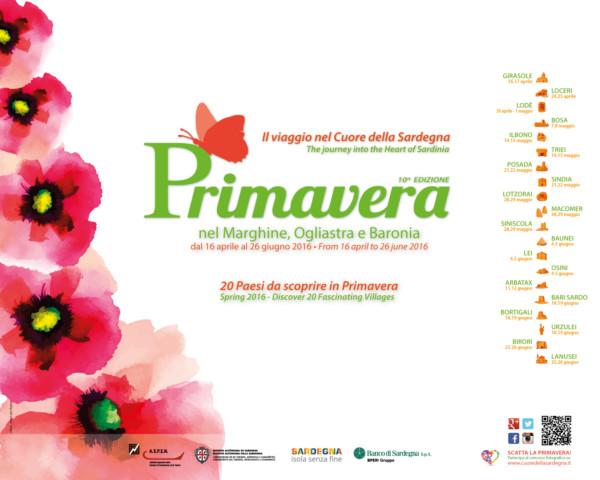 Studio della comunicazione per la manifestazione Primavera nel Marghine, Ogliastra e Baronia