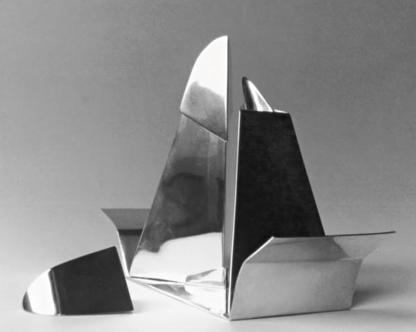 Oliera in argento designer Luigi Manca