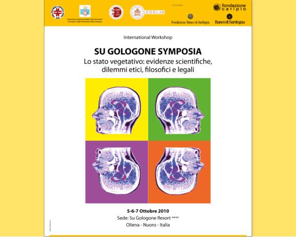 Studio grafico della locandina per il convegno Su Gologone Symposia