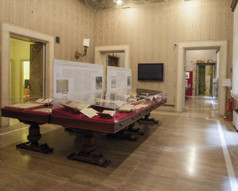 Progetto dell'allestimento per la mostra Antiquorum Habet