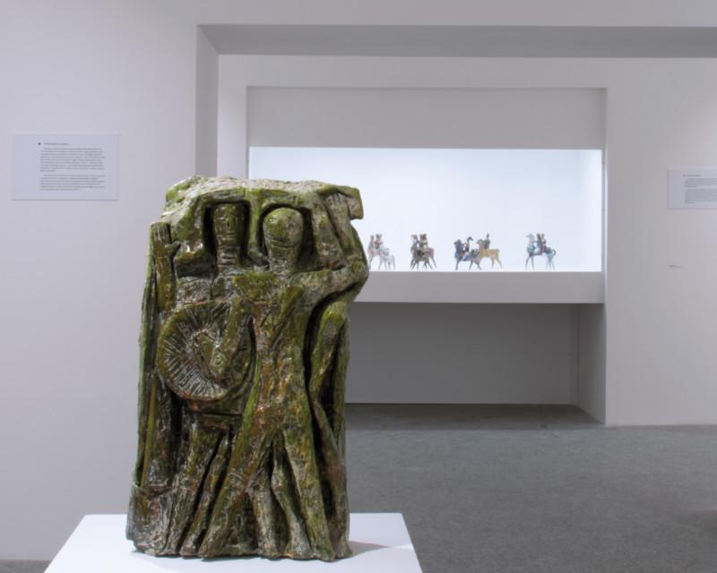 Progetto di allestimento della mostra le ceramiche di Gavino Tilocca al Museo MAN
