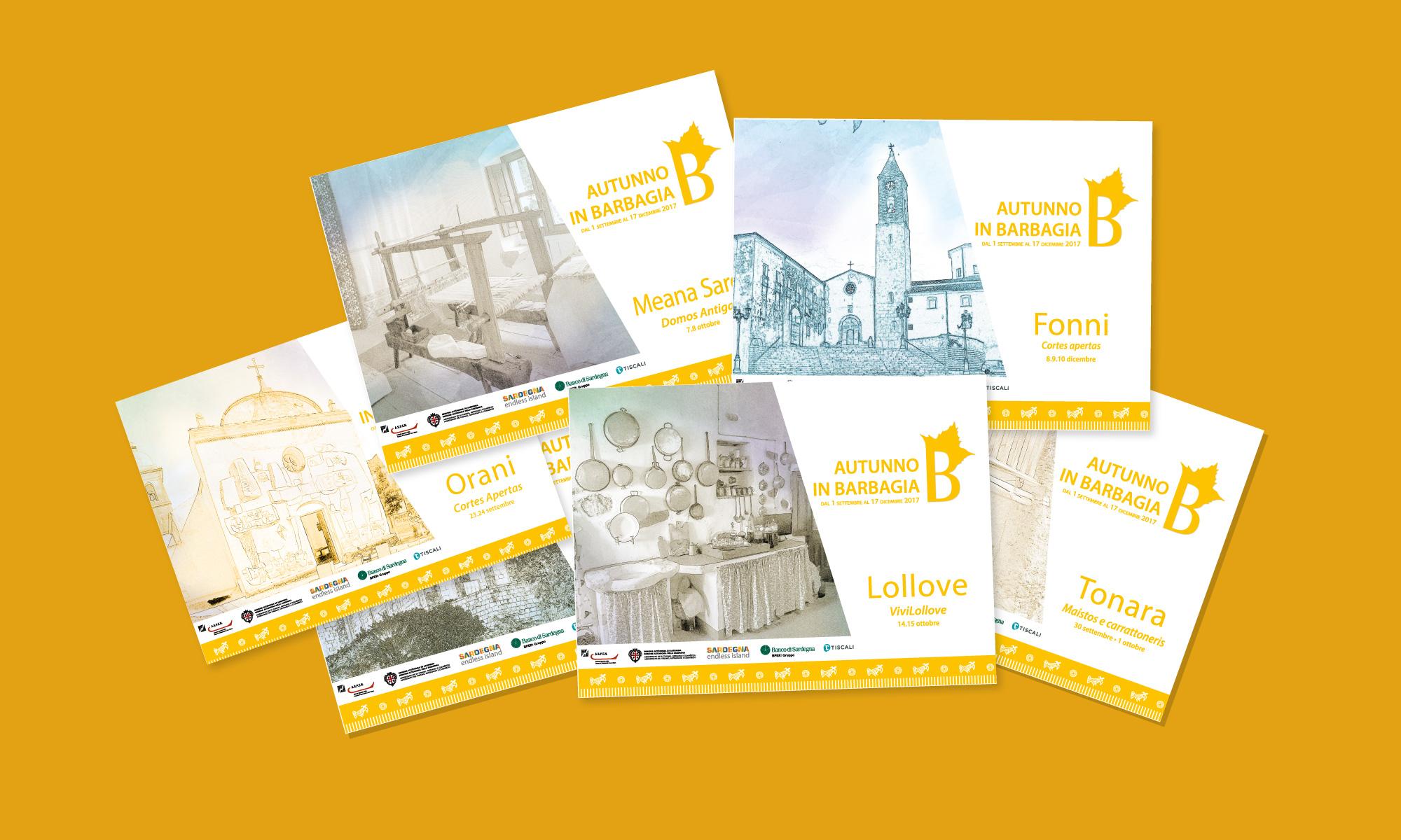 Grafica della brochure di Autunno in Barbagia