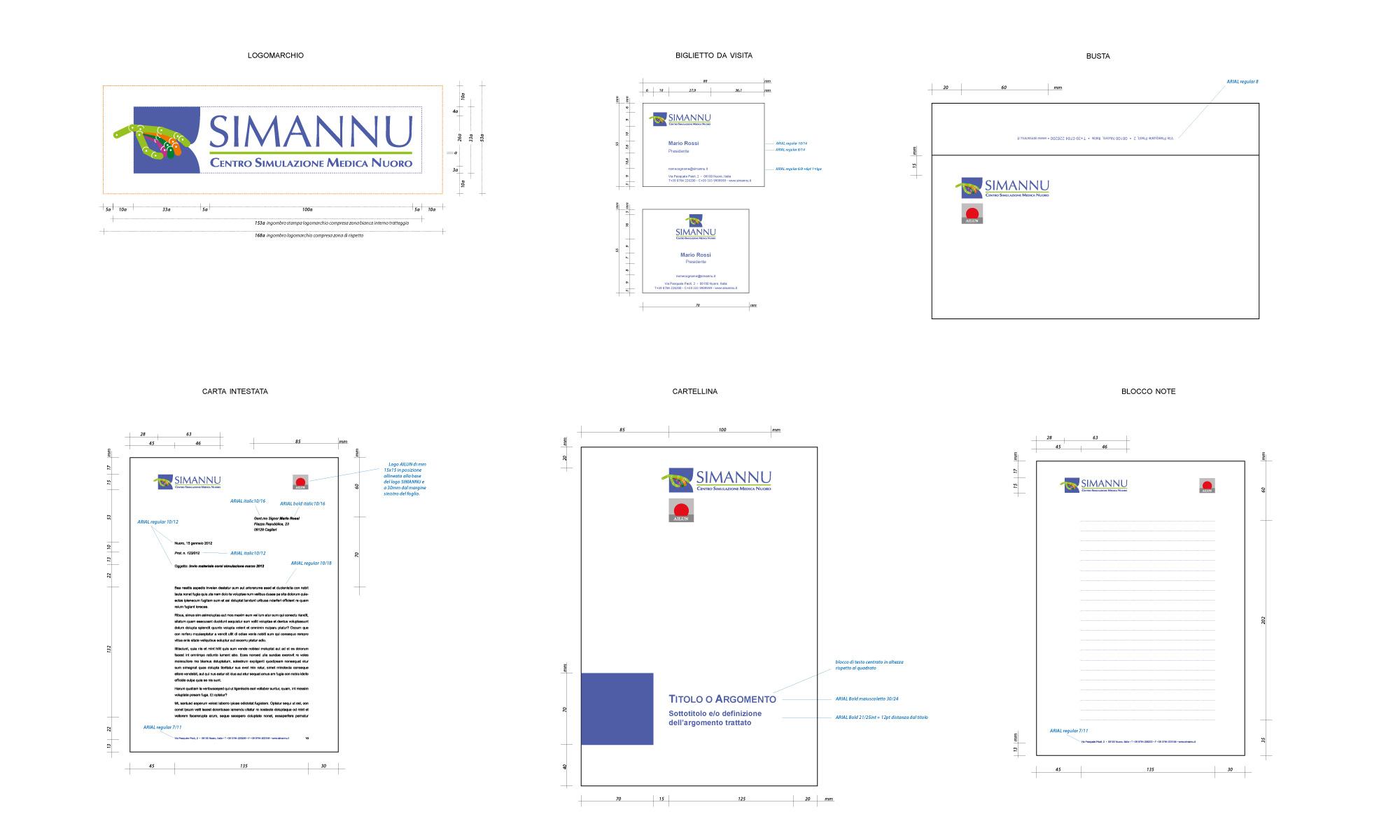 Brand identity per Simannu