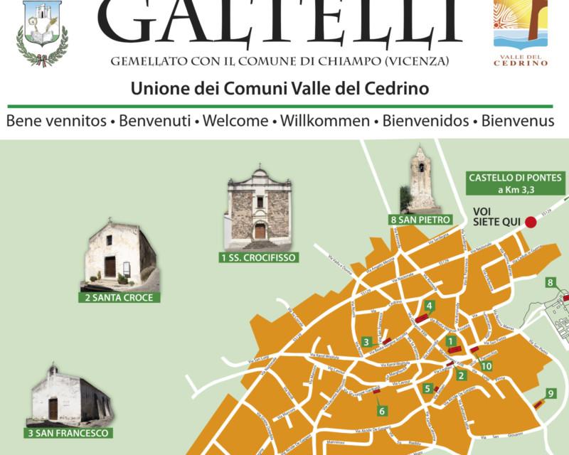 Cartelli informazione turistica a Galtellì