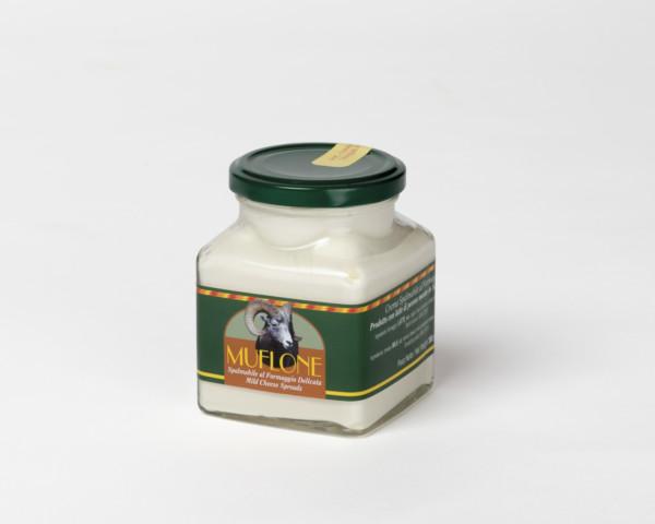 Design dell'etichetta del formaggio Muflone della Cooperativa Pastori di Dorgali