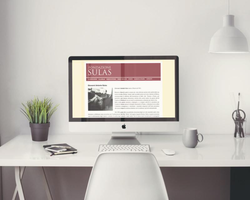 Studio grafico del sito web della Fondazione Sulas