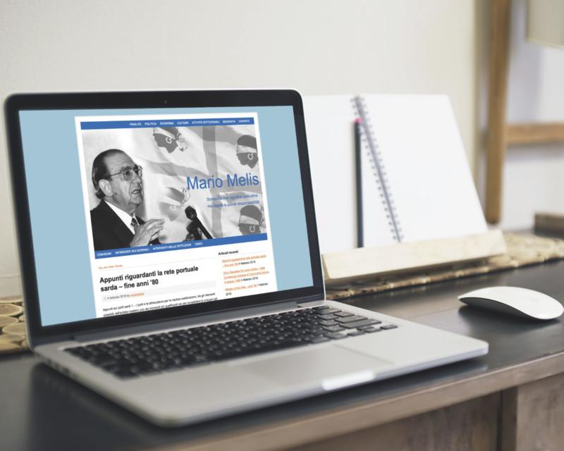 Realizzazione del sito web su Mario Melis